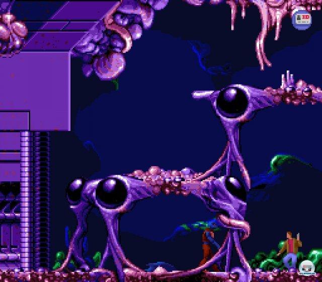 Flashback entführt den Spieler u.a. auf die Heimatwelt der bösen außerirdischen Invasoren.