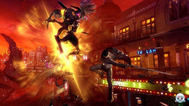 Teufelszeug: Dantes Waffen fügen viel Schaden zu oder halten Gegner fern.