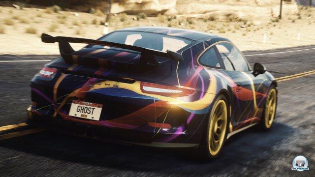 Die Fahrzeuge lassen sich mit vorgegebenen Designs pimpen.