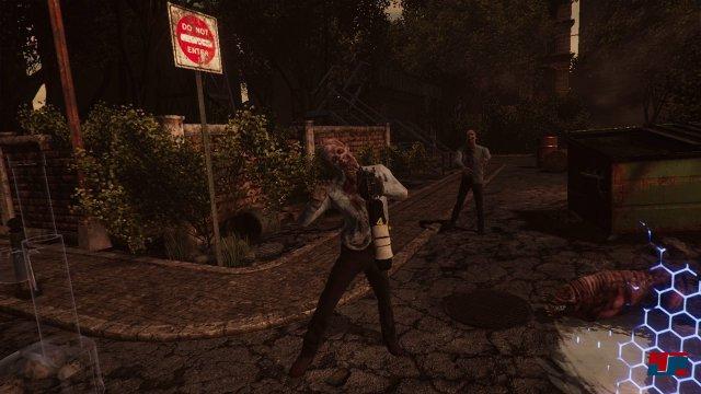 In einer modernen Ballerbude darf was nicht fehlen? Richtig: Zombies!