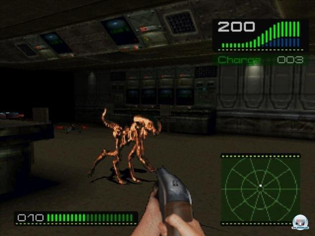 """Die """"Dog Aliens"""" aus dem dritten Teil waren im Spiel ebenfalls schon vertreten."""