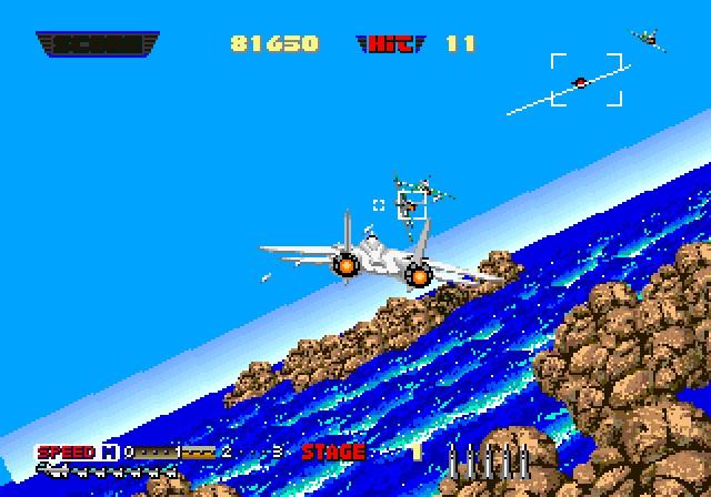 After Burner <br><br>  Egal ob in der Spielhalle, auf Heimcomputern oder Konsolen: Segas After Burner sorgte auch über den Wolken für einen rasantes Tempo. Yu Suzuki holt alles aus den Triebwerken der F-14 Tomcat heraus...  2090163