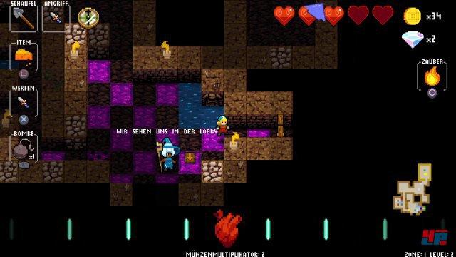 Das Konzept von Crypt of the NecroDancer ist so einfach wie genial: Bewege dich im Takt der Musik durch die Höhlen.
