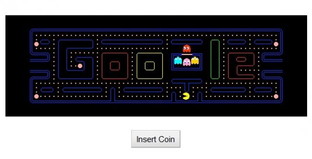 Zum 30jhrigen Jubilum erhielt Pac-Man auch bei Google einen Ehrenplatz.