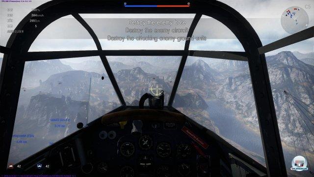 Jedes Flugzeug hat ein detailliertes Cockpit mit funktionierenden Instrumenten.