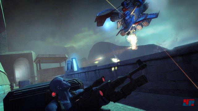 Düster und explosiv: Die Comic-Welt von Rogue Trooper ist mitunter ein stimmungsvoller Schauplatz.