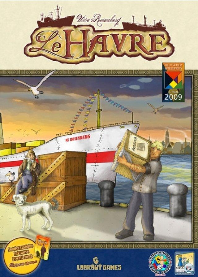 LeHavre erschien 2008 und war lange Zeit vergriffen. Mittlerweile gibt es eine neue Ausgabe von Lookout games für knapp 40 Euro.