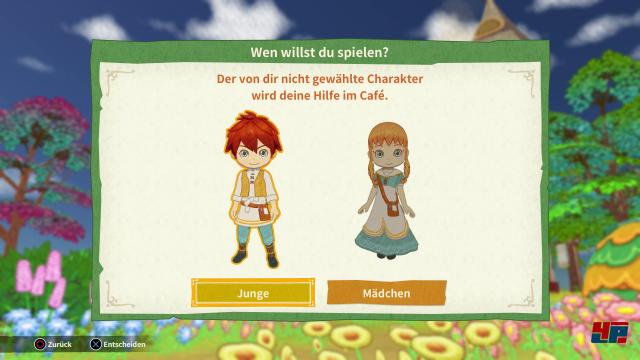 Vor Spielbeginn muss man sich entscheiden, ob man als Junge oder Mädchen spielen will.