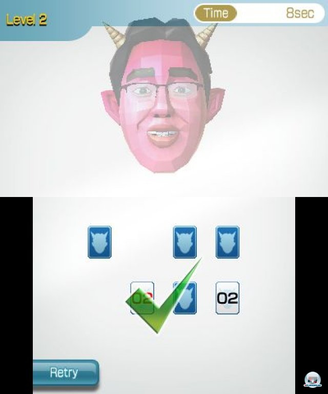 Screenshot - Dr. Kawashimas diabolisches Gehirn-Jogging: K�nnen Sie konzentriert bleiben? (3DS)