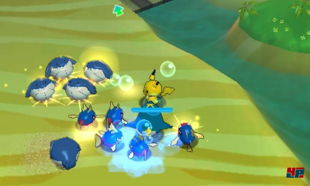 Die Kämpfe erinnern an Hack&Slays, die Rumble World ist quasi ein Pokémon Warriors.