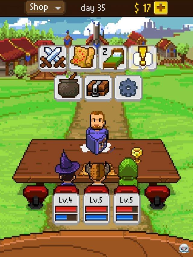 Ein Rollenspieltisch mitten in der Landschaft: Da sitzt die Party vor dem Meister und sucht sich ein Abenteuer aus.