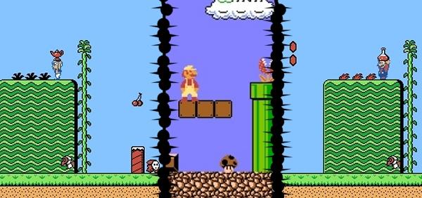 Super Mario Bros 2 (1986 bzw. 1988)<br><br>Der zweite Teil der Super Mario-Saga gibt bis heute Rätsel auf: In Japan wurde 1986 ein Spiel veröffentlicht, das im Grunde nicht viel mehr als ein SMB-Add-On mit höllisch schweren Levels war - dem Rest der Welt unter dem Namen »The Lost Levels« bekannt. Denn eben dieser Rest bekam ein ganz anderes Super Mario Bros 2 spendiert, das im Grunde seines Herzens gar kein SMB war: Stattdessen basiert der größte Teil des Designs auf dem Spiel »Yume Kojo: Doki Doki Panic«, das Nintendo lizenzierte, übersetzte, die Figuren austauschte, das Leveldesign leicht veränderte und prompt ein neues Mario-Game in der Hand hatte. Es war nicht übel, aber auch nicht weltbewegend - und unterschied sich spielerisch erheblich vom »Vorgänger«. 1724677