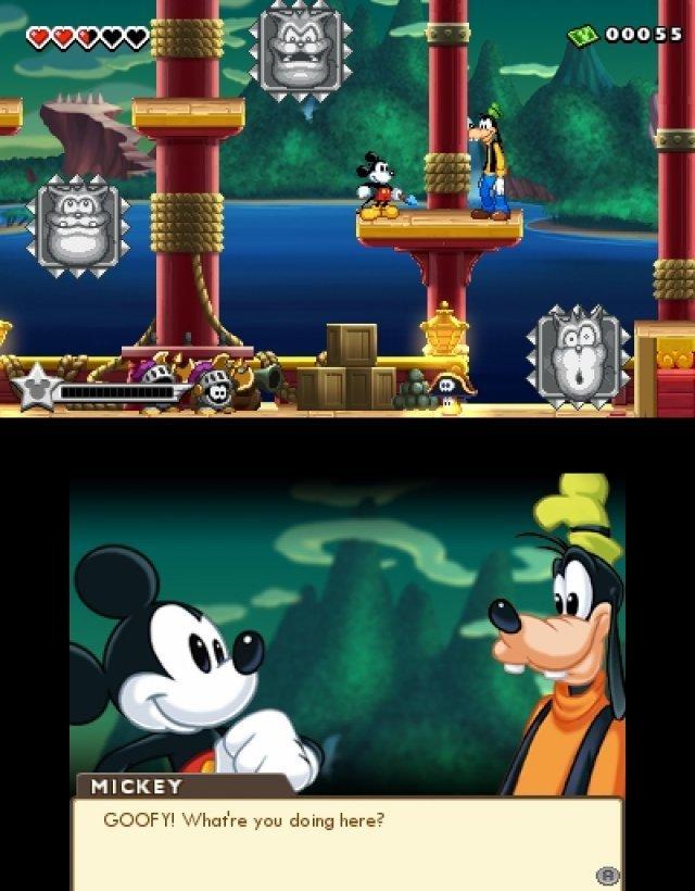 """Man trifft immer wieder auf andere Disney-Figuren, die man """"befreien"""" muss - und die dann in der """"Festung"""" einen Haufen Nebenmissionen für einen haben."""
