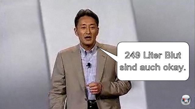<b>Die PSP Go! nebst Spiele-Sortiment:</b><br><br>Okay, über die Definition von »zum selben Preis in Europa und Nordamerika« unterhalten wir uns bei Gelegenheit nochmal, Herr Hirai, CEO von Sony Computer Entertainment. In unserer Welt entsprechen 249 Euro nicht direkt 249 Dollar, nur weil die Zahlen identisch sind. Aber das Ding sieht schnuckelig aus, außerdem verspricht Sony eine Software-Schwemme sondergleichen, welche die im Grunde schon seit einem Jahr hilflos röchelnde PSP wieder zum Super-Handheld machen soll. Gran Turismo PSP lebt und sieht super aus! Hideo Kojima entwickelt das echte Metal Gear Solid 5 für PSP! Soul Calibur: Broken Destiny spielt sich fantastisch! Ja, bitte mehr davon! 1962418