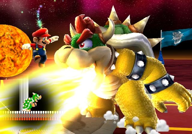 <b>Bowser (Erstauftritt in Super Mario Bros.)</b><br><br>Groß, grün, böse, stachelig, dicker Panzer auf dem Rücken, ein Faible für blonde Prinzessinnen - Bowser! Unvergessen seine Auftritte in Super Mario Bros., die heute noch zu den schwersten Bossfights aller Zeiten gehören. Obwohl er im Laufe der Zeit immer zahmer wurde, bleibt er nach wie vor die beste Mario-Nemesis - und tausend Mal charismatischer als dieser bärtige Minispielfuzzie ist er allemal! 1887618