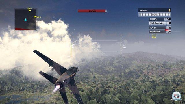 Auch auf der PS4 ist das simple Flugmodell von Air Conflicts: Vietnam ein Graus!