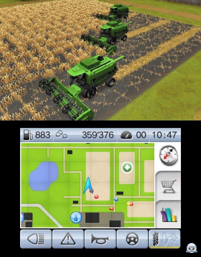So kommt Freude auf: Gleich drei Mähdrescher bewirtschaften meine Felder.