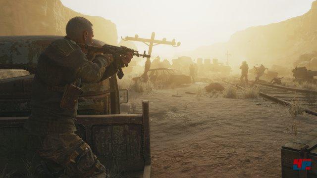 Aufziehende Sandstürme erschweren die Sicht.