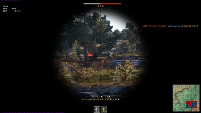 Treffer: so sieht man feindliche Panzer am liebsten.