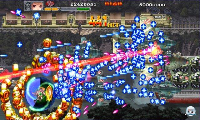 Technisch bleibt sich Cave treu: Eher simple 2D-Grafik - und irrsinnige Massen an Kugeln.
