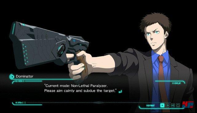 Die Waffe des Enforcers scannt Ziele auf ihr Verbrecherpotenzial - erkennst sie keines, entsichert sie auch nicht.
