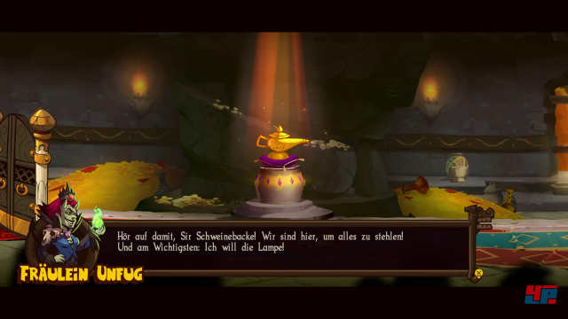 Wikinger, Perser und Dämonen streiten sich um eine magische Wunderlampe.