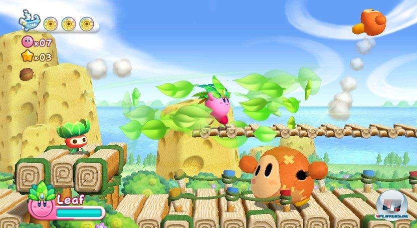 Je nach runtergekautem Gegner erlangt Kirby viele unterschiedliche Spezialfähigkeiten.