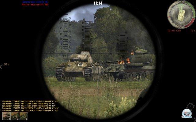 Mittendrin im Panzer.