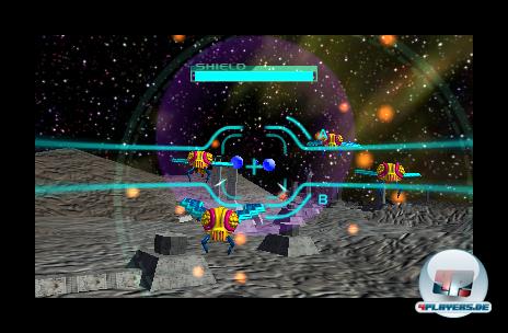 Galaga: 3D Impact verlagert das Insektenvernichter-Spielprinzip in die dritte Dimension - ein solider Arcade-Spa�.