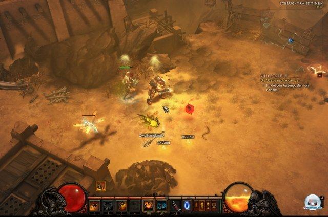 Im kooperativen Mehrspieler-Modus profitieren alle Spieler von den Effekten der Gesundheitskugeln, sobald ein Mitspieler sie einsammelt.