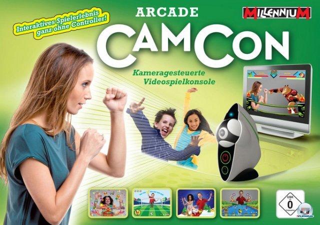 <b>Millenium Arcade Camcon</b><br><br> Im Februar dieses Jahres wollte das Münchner Unternehmen Millenium 2000 ein Stück vom Kinect-Kuchen abhaben. In die rein kameragesteuerte Konsole sind 25 Spiele bereits fest eingebaut. Die an Eyetoy erinnernden Titel besitzen solch kreative Namen wie