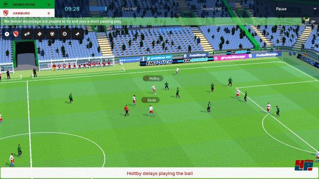 Die Match-Darstellung lässt sich an die verfügbare Zeit anpassen und ist bis auf einige krude Animationen gleichermaßen spannend wie überzeugend.