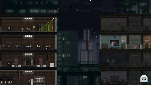 Später erstrecken sich die Level auch über mehrere Gebäude.