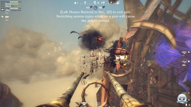 Grafisch hat Guns of Icarus Online nicht viel zu bieten - die Landschaften sind öde, die Effekte durchschnittlich.
