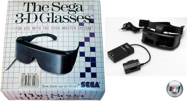 <br><br>Auch Sega war bemüht, auf den 3D-Zug aufzuspringen und brachte für das Master System sogar eine eigene Brille auf den Markt. Die Unterstützung ließ jedoch zu wünschen übrig: Bis auf wenige Ausnahmen wie Outrun 3D, Space Harrier 3D oder Zaxxon 3D konnten Besitzer ihre Anschaffung verstauben lassen. Trotzdem ließ sich Nintendo nicht entmutigen und veröffentlichte im Gegenzug noch das Famicom 3D System - eine Shutterbrille für das NES, das technisch ähnlich funktionierte wie das Sega Pendant und dabei ähnlich erfolglos wieder in der Versenkung verschwand.  2049228
