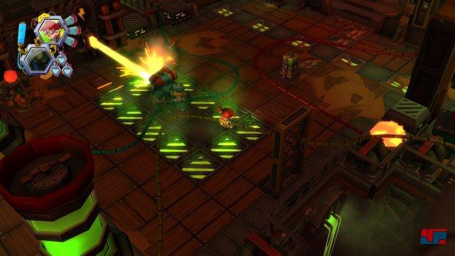 Um dem von Robotern bewachten Labyrinth zu entkommen müssen Vesta und ihr Roboter zusammenarbeiten.