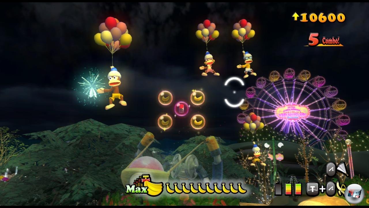 Schießt man die Ballons ab, geht auch den Affen die Luft aus.