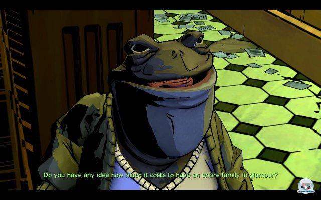 """Gleich zu Beginn trifft man auf Mr. Toad: Eigentlich darf er ohne Verhüllungszauber (""""Glamour"""") nicht rumlaufen. Weist man ihn zurecht?"""