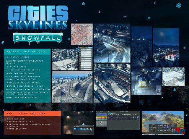 Übersicht: Features von Snowfall und des Patches für Cities: Skylines