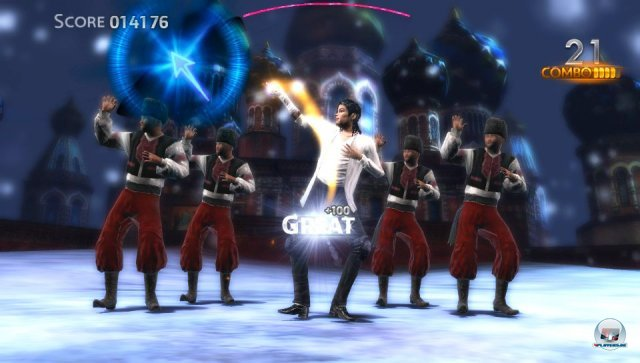 Die Background-Tänzer lassen sich freischalten.