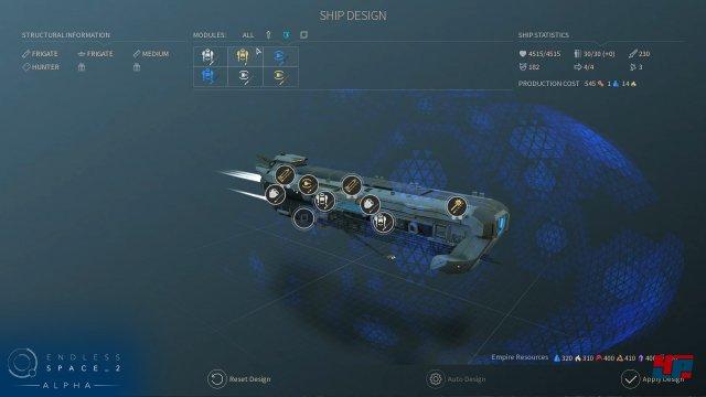 Design und Ausstattung der Schiffe können angepasst werden.