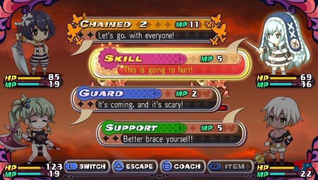 In den Kämpfen machen die Figuren basierend auf ihren Fähigkeiten sowie der Situation Aktions-Vorschläge.