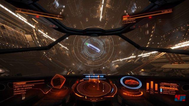 Vor allem in den Stationen und in der Nähe großer Objekte zerreißt das Bild.