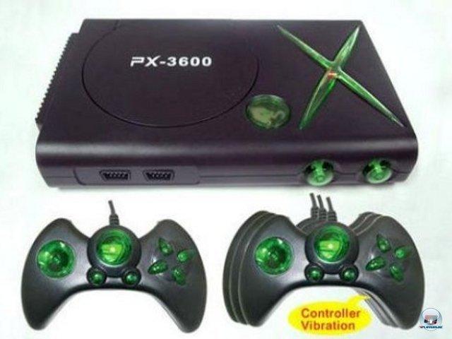 <b>PX-3600</b><br><br> Auch diese obskure Kreuzung aus Xbox und Batarang bedient sich Design-Elementen des ersten Prototyps. Dem Namen nach ist das Gerät sogar zehnmal so fortschrittlich wie die Xbox 360. Wer kann da schon nein sagen? 2376577