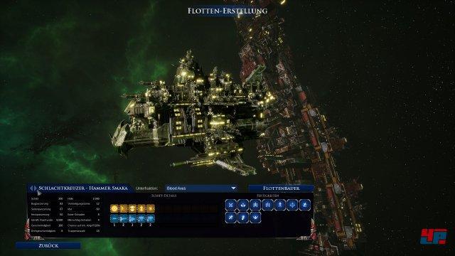 Die Raumschiffe stehen auch in unterschiedlichen Farben - je nach Unterfraktion zur Verfügung.