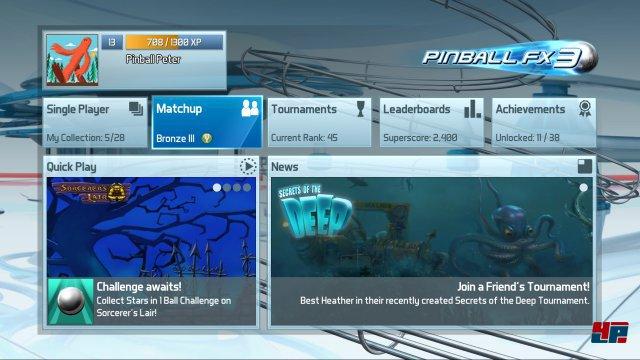 Der Fokus bei Pinball FX3 liegt auf der Community und asynchronen Wettbewerben.