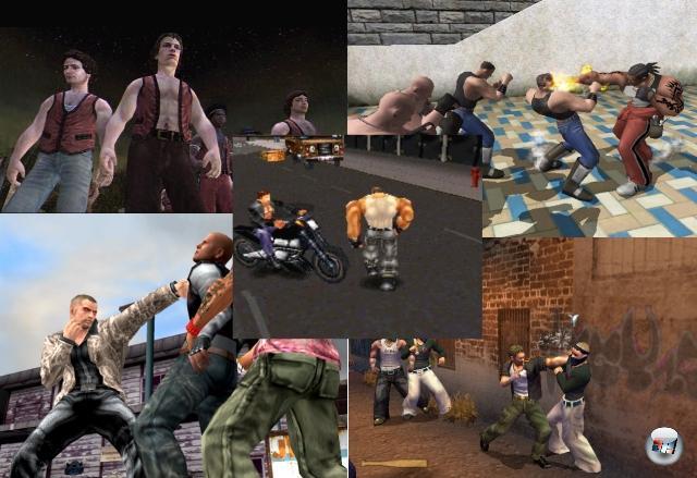 Mit dem Fortschritt der 3D-Grafik kam auch die Überlegung auf, ob man wohl nicht den guten alten Sidescroller in einen 3D-Scroller verwandeln könne. Und Heureka - man konnte! Fighting Force war einer der ersten Titel, die das »Kloppe dich durch endlose Horden eineiiger Hundertlinge, benutze Mülleimer und Bleirohre als Waffen, rette das blonde Mädchen!«-Spielprinzip in ein Polygongewand steckten - eine Idee, die Spiele wie SpikeOut, Urban Reign, Final Fight Streetwise oder The Warriors mal mehr, mal weniger erfolgreich weiterführten. 1911928