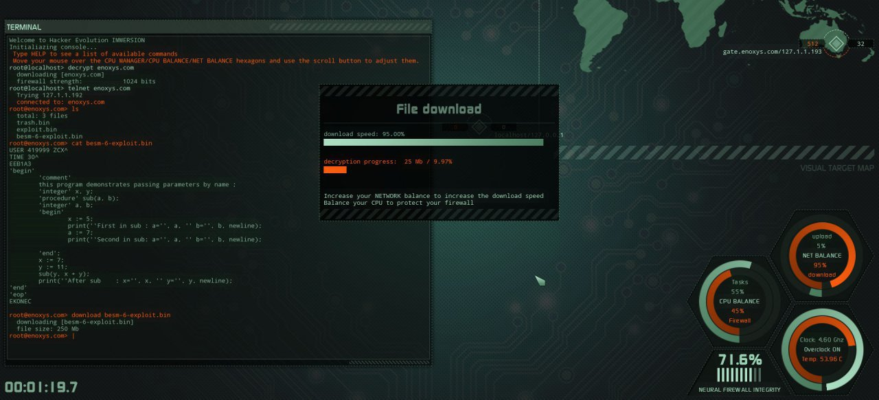 Hacker Evolution: Immersion (Adventure) von Exosyphen studios