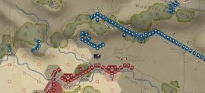 Nord gegen Süd in abstrakter Rundentaktik