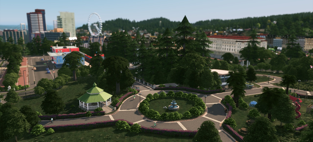 Cities Skylines Parklife Next Expansion Provides Theme Parks